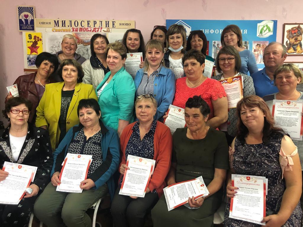 Депутат Сергей Ковалев  поздравил работников миллеровской соцслужбы