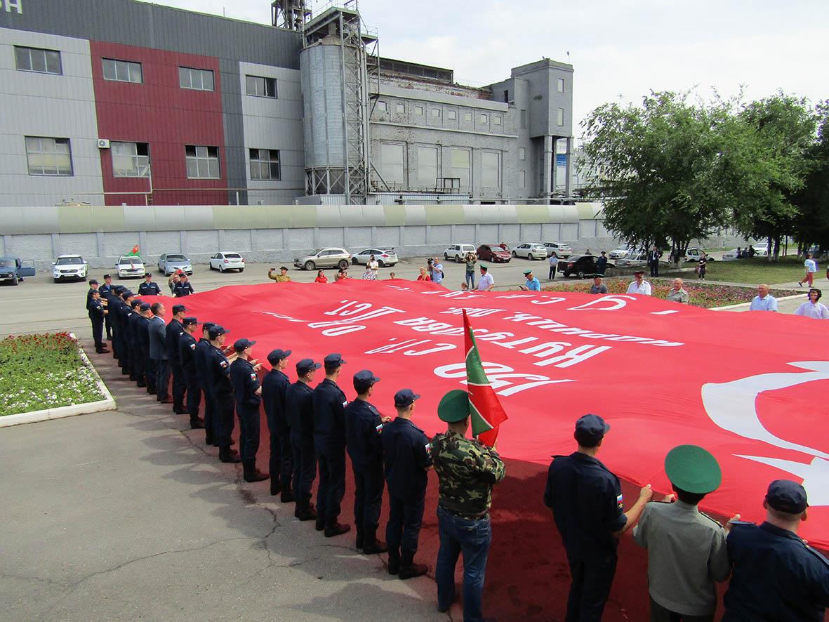 Участники акции «Знамя Победы» побывали в Миллерово